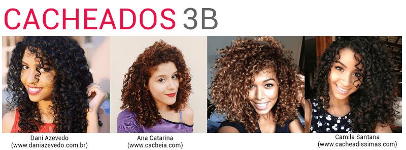 cabelos cacheados tipo 3B