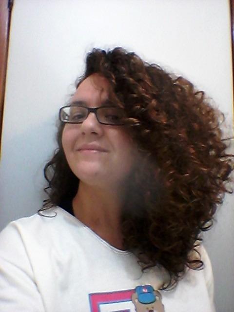 Resultado da hidratação com glicerina em cabelo ondulado