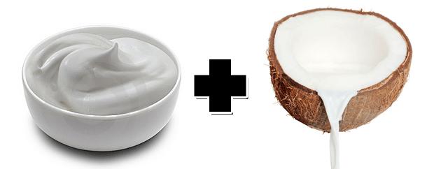 Hidratação caseira com leite de coco ecreme de leite