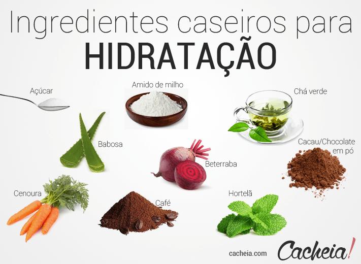 Ingredientes caseiros para etapa de hidratação do Cronograma Capilar