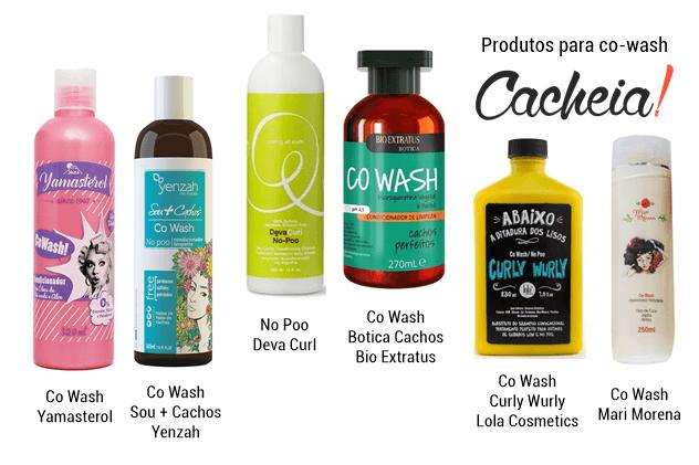 produtos co wash liberados para no poo