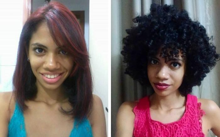 transição capilar: antes e depois