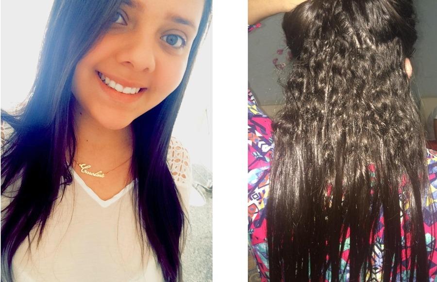 Caroline Dantas, 19 anos, 1 ano e 2 meses de transição capilar