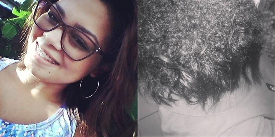 Jéssica, 19 anos, há 1 ano em transição capilar