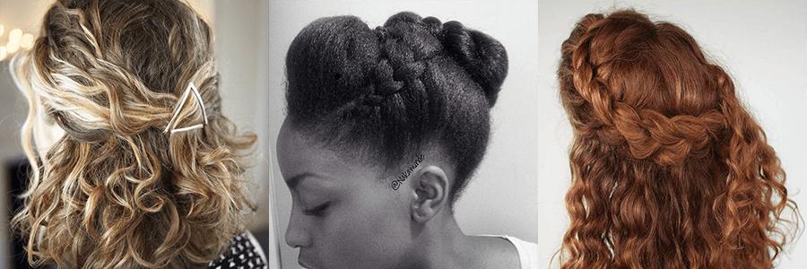 Como lidar com as duas texturas do cabelo com penteados