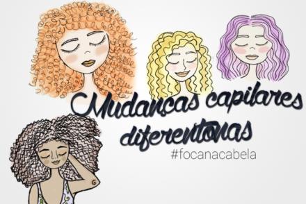 Mudanças capilares em cabelos cacheados, crespos e ondulados: bem diferentonas