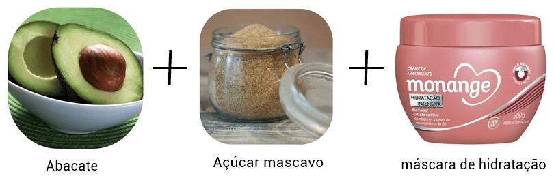 receitas caseiras de hidratação com abacate, açúcar mascavo e máscara
