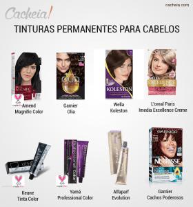 Colorações permanentes para cabelos