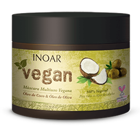 Finalizadores para cabelo crespo liberado para low poo - Máscara multiuso inoar vegan