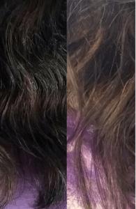Resultado do DekapColor em cabelos com fios brancos
