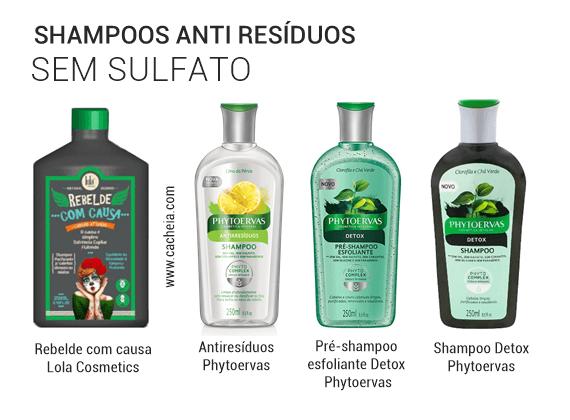 shampoo antiresiduos liberados low poo sem sulfato