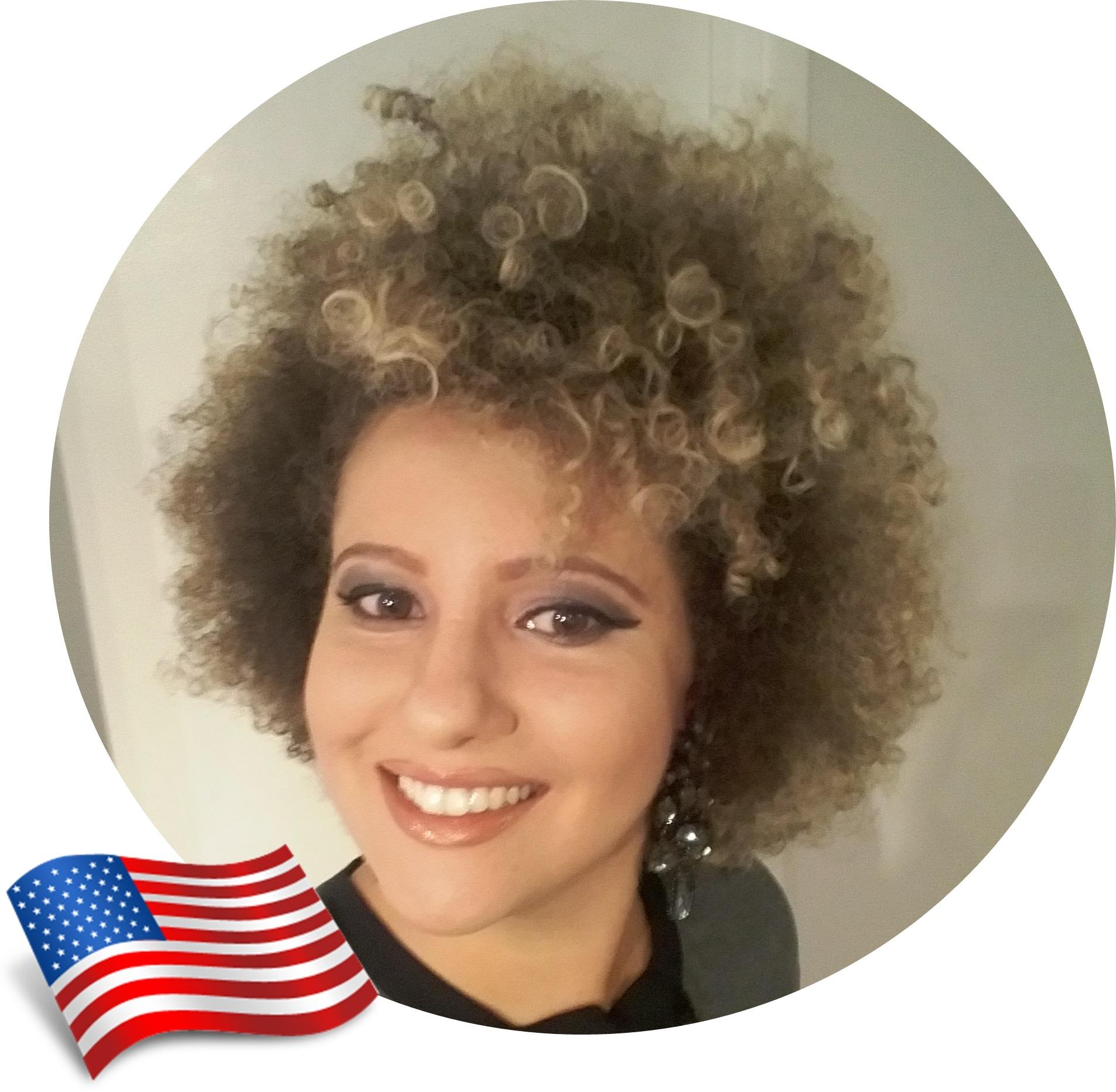 Cuidados com cabelos crespos no exterior, Samira, Estados Unidos
