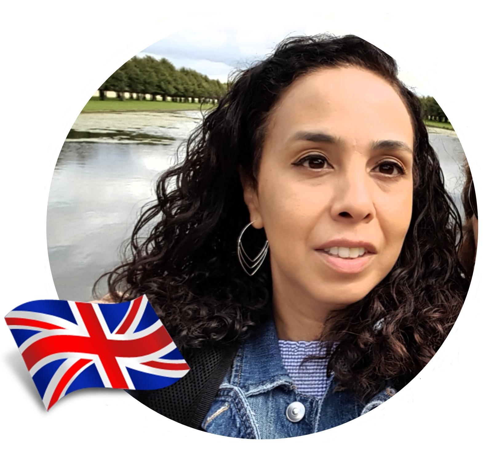 Cachos no exterior. Elaine, 40 anos, Inglaterra