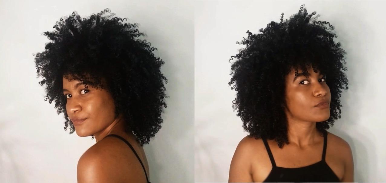 como reduzir o fator encolhimento - resultado cabelo crespo mais comprido após tutorial