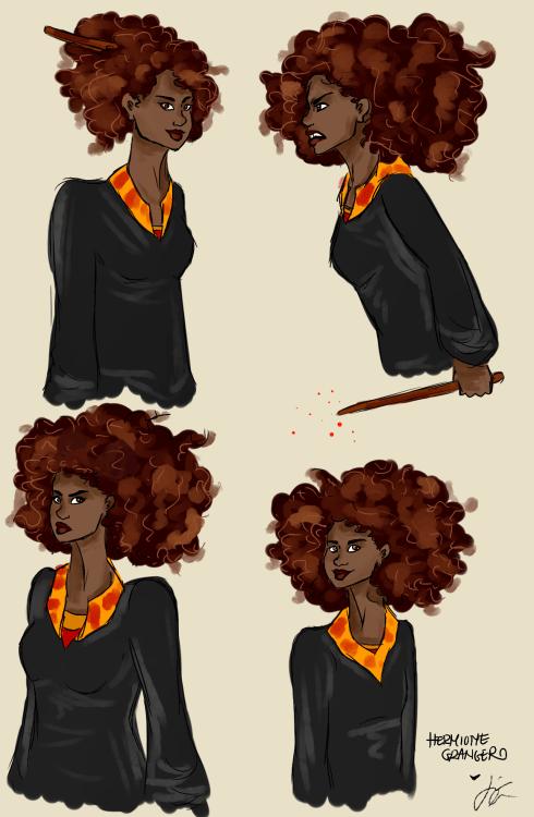 Desenho Hermione Granger negra: Hermione Granger, cabelo natural e representatividade