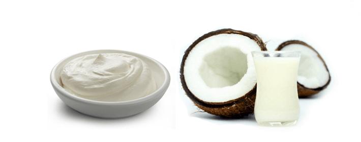 Hidratação caseira de leite de coco e creme de leite para cabelos crespos