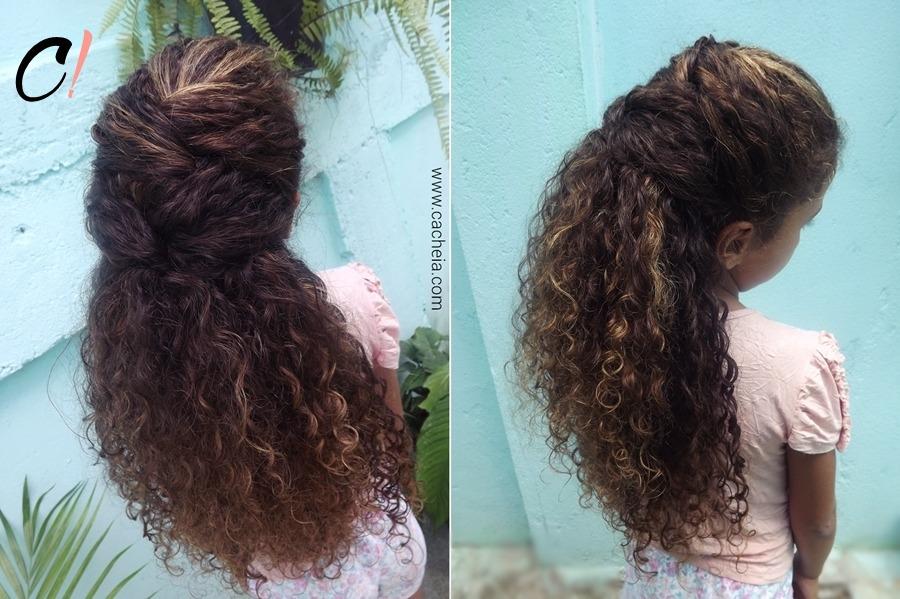 penteados para crianças com cabelos cacheados
