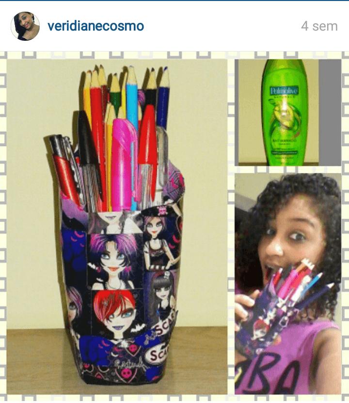 Porta-lápis personalizado reciclado