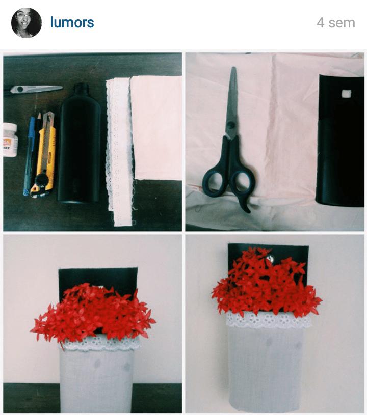 Vaso de flores reciclado