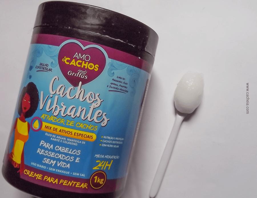 5 produtos liberados para No Poo bons e baratos - creme de pentear cachos vibrantes griffus