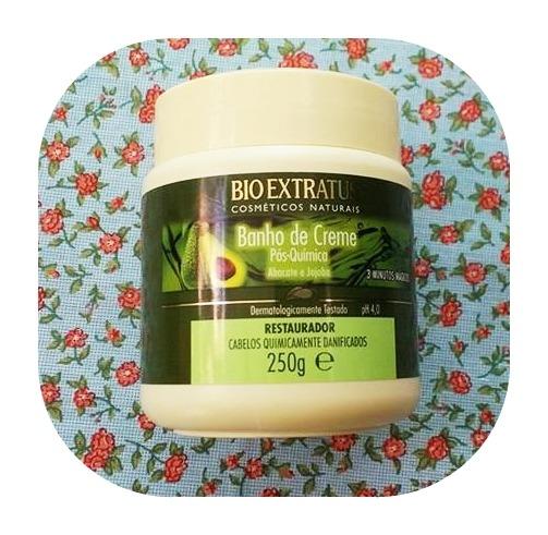 Melhores máscaras para low poo - banho de creme pós química Bio Extratus