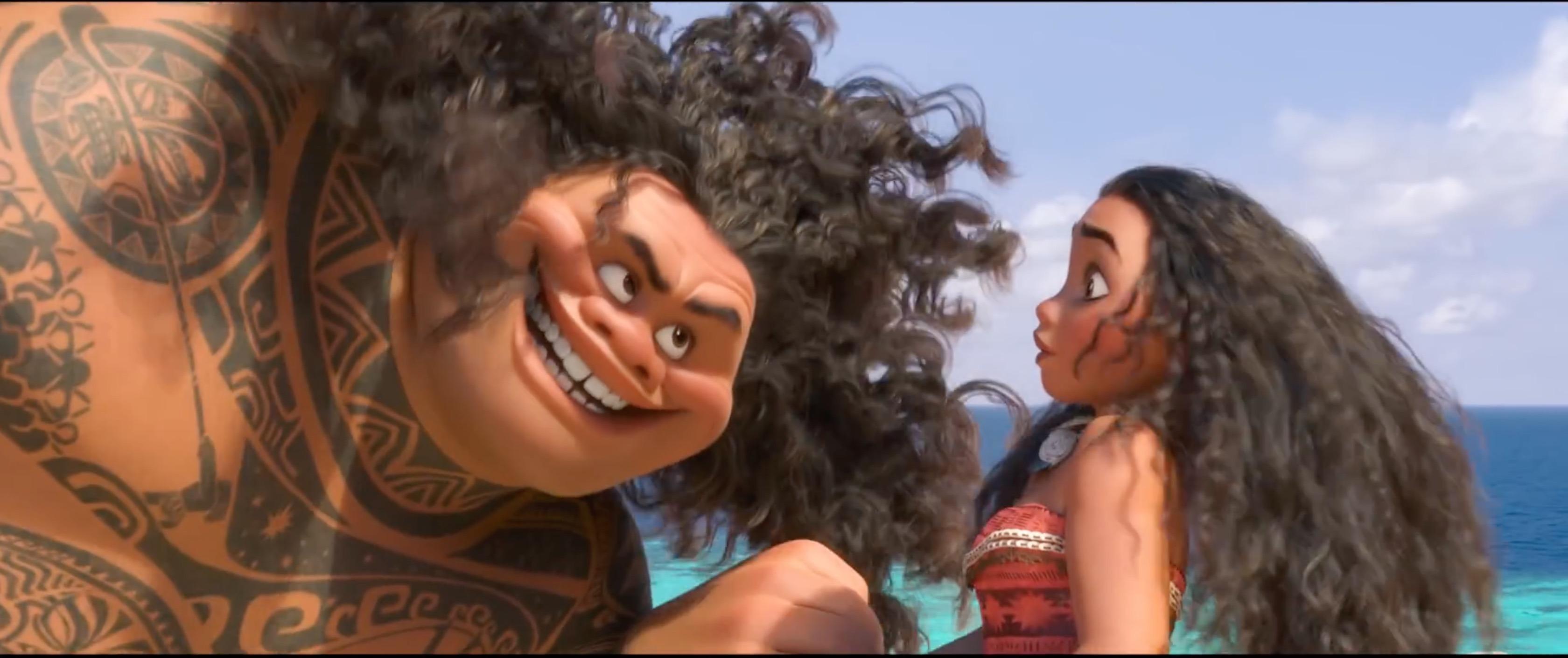 Semi deus Maui e Moana