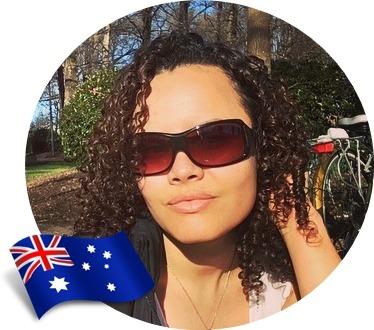 Cuidados com cabelos cacheados no exterior, Ana Paula, Austrália
