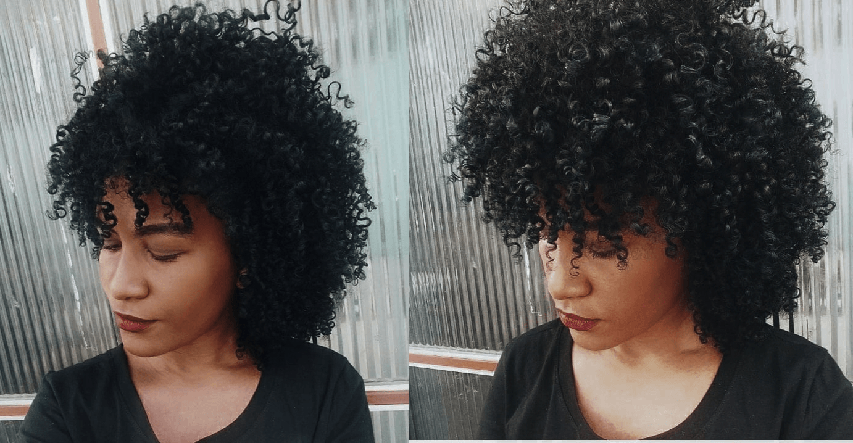 Resultado da Misturinha Estimulante de Cachos Soft Hair em cabelo crespo. Cachos definidos e com pouco frizz