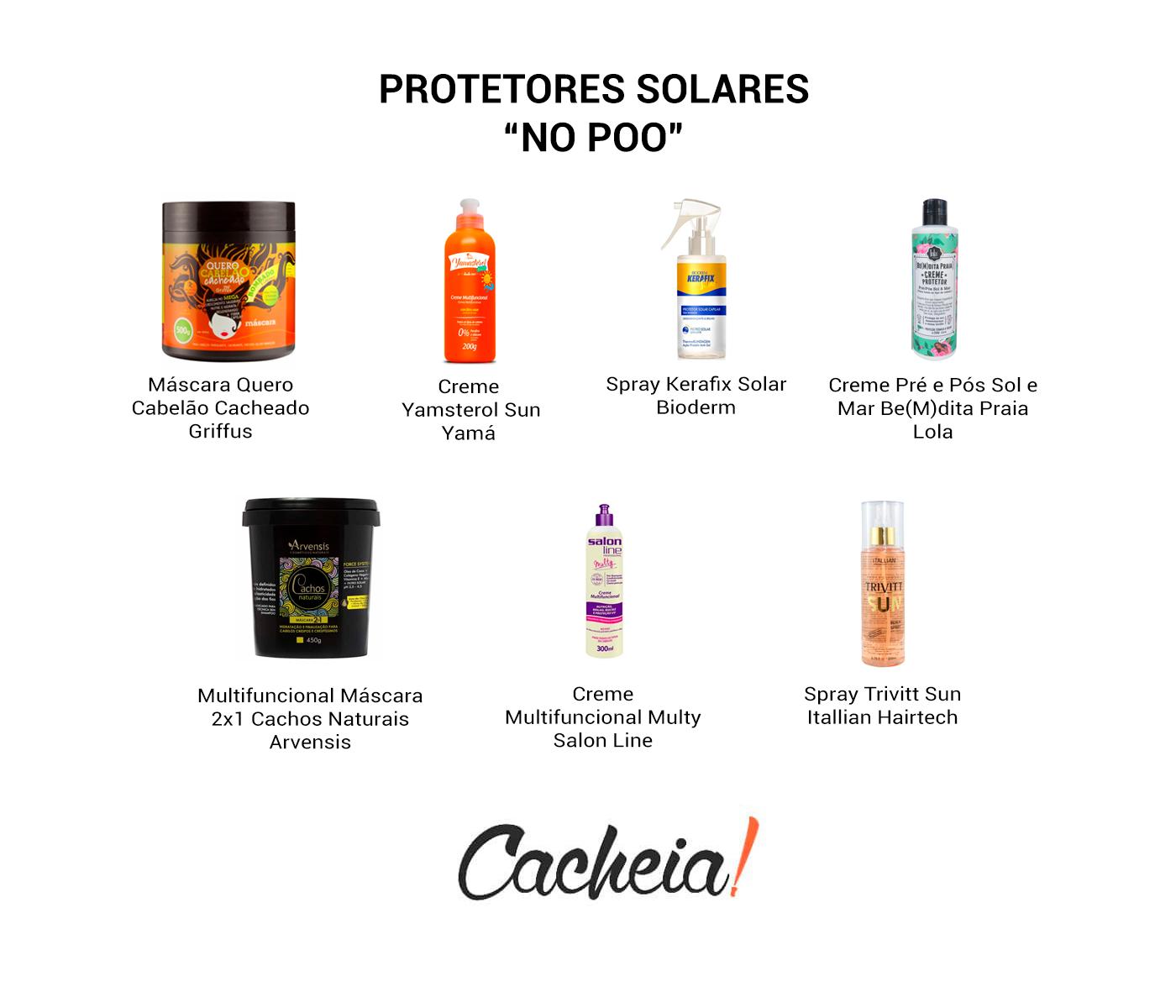 Produtos com Proteção Solar Liberados para No Poo e Low Poo