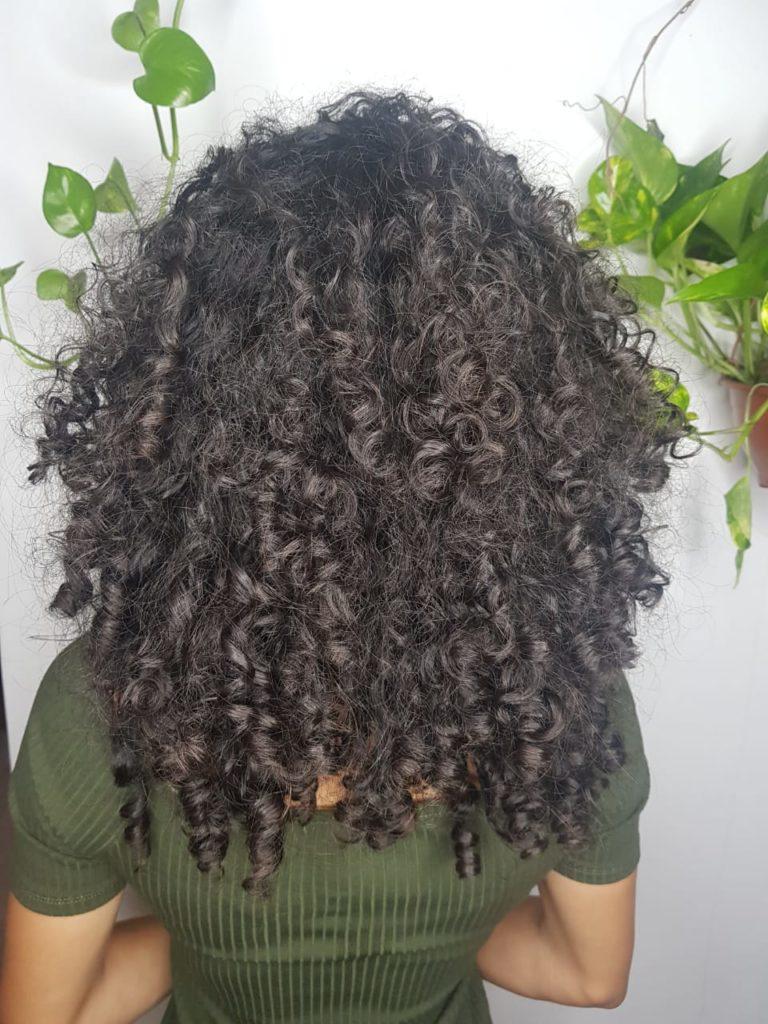 cabelo cacheado de costas antes do corte